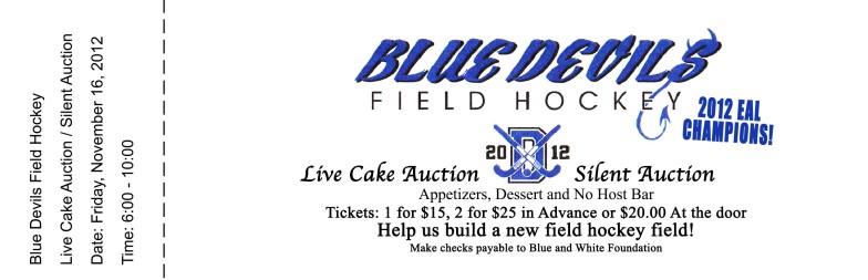 Blue Devils Field Hockey Tickets-FRONT