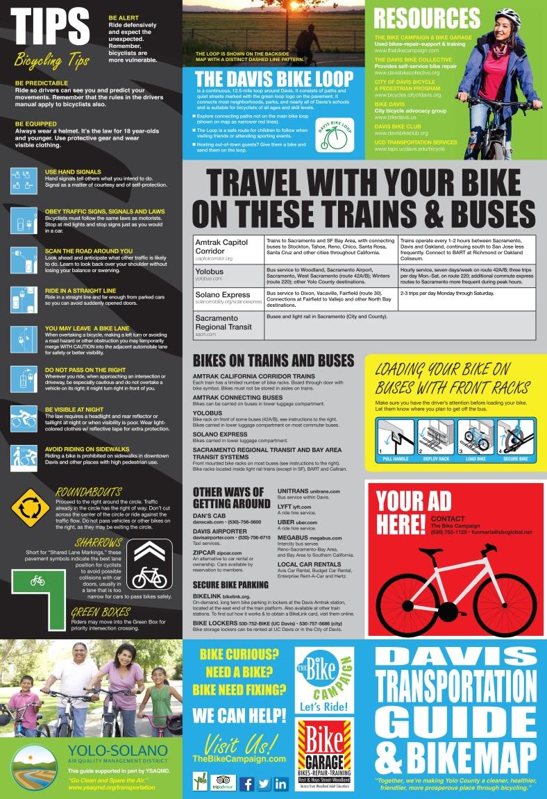 Davis Transportation Guide & Bike Map