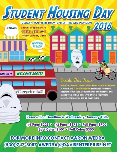The Davis Enterprise Student Housing Day Flyer Design By Smartz Graphics