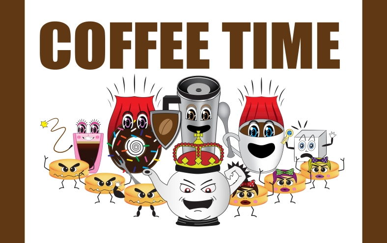 Coffee Time Board Game Design By Smartz Graphics