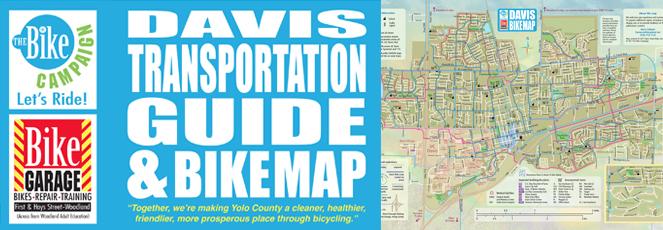 Davis Transportation Guide and Bike Map
